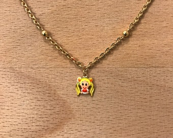 15,5k gold Usagi from Sailor Moon charm necklace