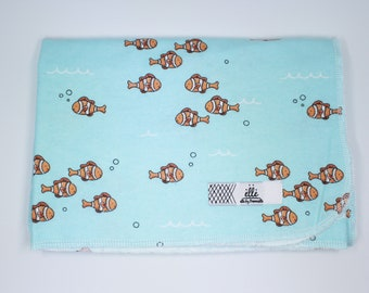 """Finding Nemo Clown Fish Extra Large Receiving Blanket - 36"""" x 42"""""""