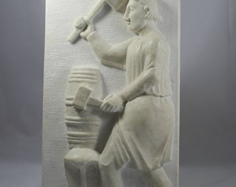 Sculpture / marble relief of medieval inspiration
