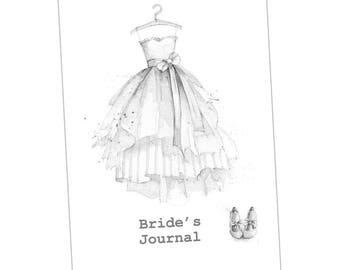 Bride's Notebook taken from an Original Watercolour / Notebook/ Journal
