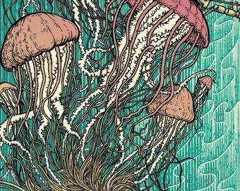 Jellydish art print