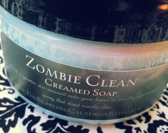 Zombie Clean - Creamed Soap - Bath Whip - Whipped Soap - Zombie Soap - Cream Soap