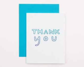 Ocean Thank You Card | blue thank you card for friend family colleague
