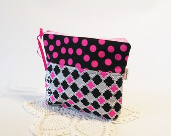 Zipper Bag - Accessory Bag - Travel Bag - Gift for Coworker - Gadget Bag Teens- Essential Bag For Women