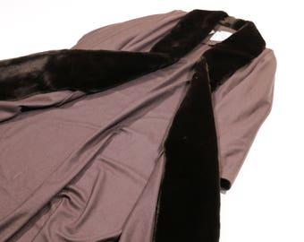 FENDI - Wool coat with fur