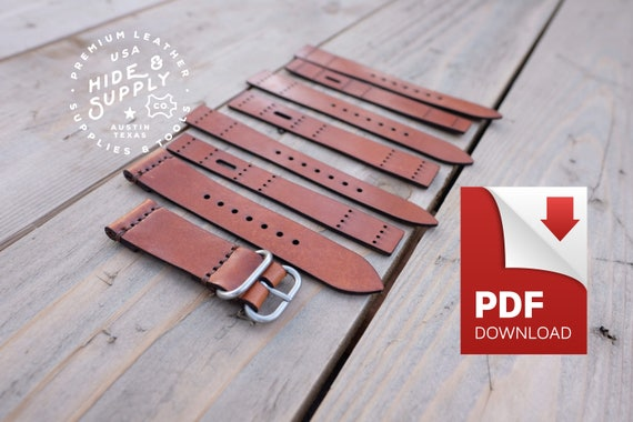 watch strap band template pattern guide set 18mm 20mm 22mm