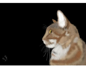 Cat Greeting Card, Blank, Nutmeg from Side Design No A6016