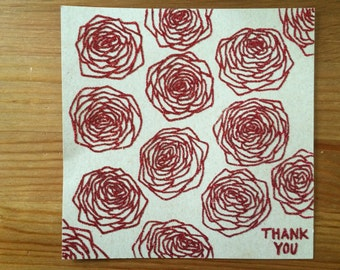 Sparkle Roses Thank you Card