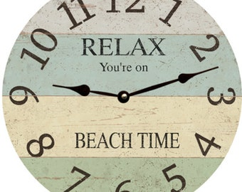 Relax-Beach Time-Clock