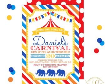 Carnival Invitation | Circus Invitation | Carnival  Party | Circus Party | Birthday Party | Printable Invitation