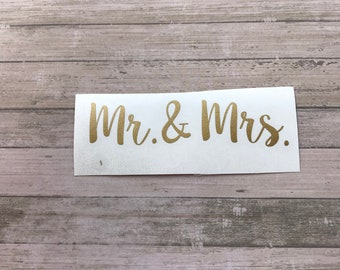 Mr & Mrs  Vinyl Decal