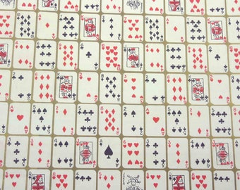 Vintage 1950s or All Occasion Wrapping Paper or Gift Wrap with Playing Cards Suites by Gibson