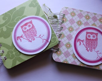 OWL - Post It Note Holder Planner / Cover - Gift set of 2
