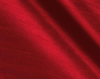 Two 26 x 26 Custom Euro Pillow Covers  - Dupioni Silk - Red