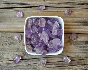 Tumbled Amethyst, Meditation Stones, Meditation Stone Set, Chakra Stones, Healing Gemstone Set, Tumbled Gemstones,