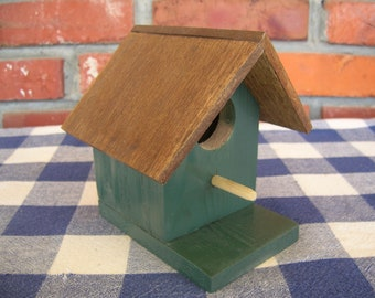 Birdhouse - Hunter Green, Small, Decorative - Indoor, Outdoor, Garden, Porch, Patio, Shelf Decoration