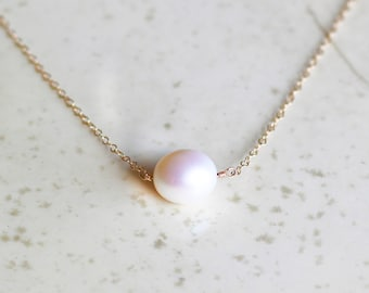 Pearl Necklace, Keshi Pearl Necklace, Bridesmaids Gifts, Choker Necklace, June Birthstone, Pearl Jewelry, Gifts For Her