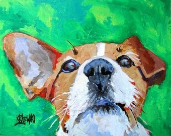 Jack Russell Terrier Art Print of Original Acrylic Painting 8x10