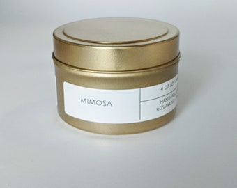 Mimosa 4 oz Gold Tin Candle