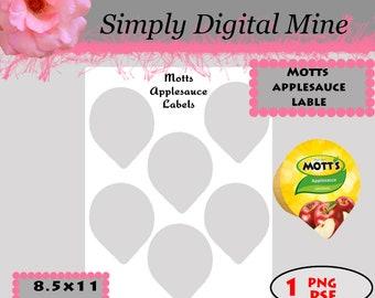 YOU Design!!! Motts Applesauce labels Templates!!