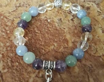 Natural stone bracelet mix