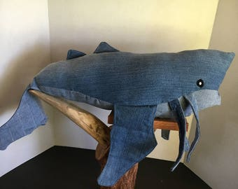 Dishonored Inspired Upcycled Denim Whale