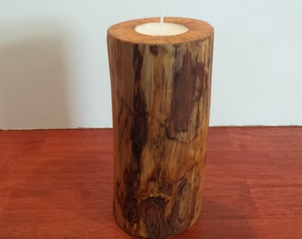 Real Birch Log Candle Holder, Wood Candle Holder, Wooden Candle Holder, Rustic Log Candle Holder, Log Candle Holder, Center Piece