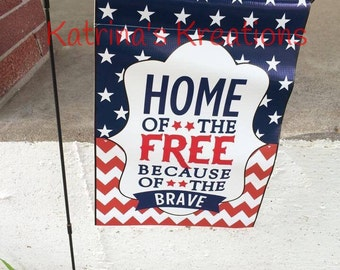 Home of the Free Garden Flag, July 4th Flag/Independence Day Flag