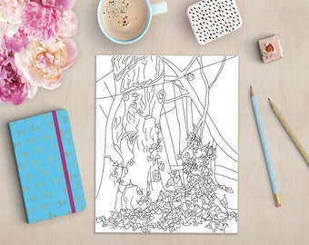 stress relief fairy garden fairy coloring book fantasy coloring books for adults - Fairy Coloring Book For Adults