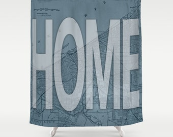 CLEVELAND IS HOME Shower Curtain