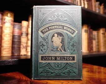 1881 Poetical Works of John Milton, Antiquaran Poetry Book