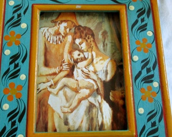 Hand Painted Vintage Wood Frame
