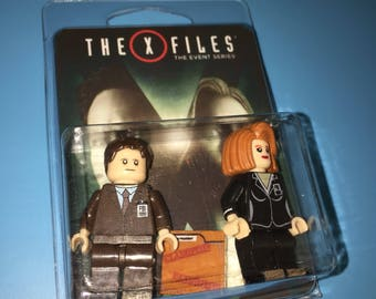 X-FILES Fox Mulder Dana Scully Custom Minifigures TV series