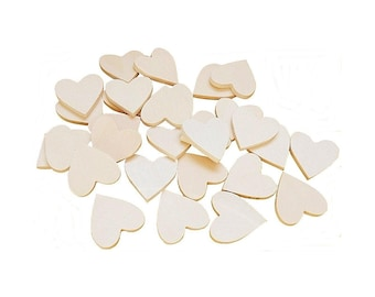 DIY wooden hearts size 3 x 3 cm 4 mm 30 PCS Sp.