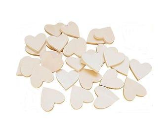 DIY wooden hearts size 3 x 3 cm 4 mm 30 PCS Sp.