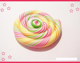 fimo polymer clay lollipop cabochon