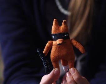 SALE. Little fox bandit. Miniature. Talisman. Fox