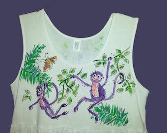 Sale Price! Purple Monkeys Dress size Medium SHIPS TOMORROW