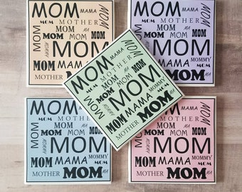 Tile Coaster   Mom Coaster   Mother's Day   Unique Special Gifts   Mom Quote Art   Coffee Table Art   Pretty Coasters   Mother's Day Gift  