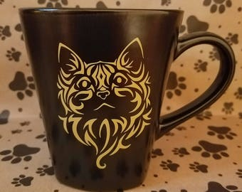 Elegant Cat/Feline Mug for Pet Lovers!