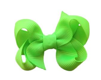 Key Lime baby bow - hair bows, bows, hair bow, baby bows, hair bows for girls, baby hair bows, toddler bows, girls bows, hairbows, baby girl