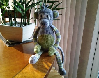 Lovable Knitted Monkey