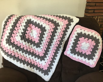 Plush Baby Blanket Set
