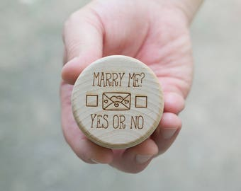 Proposal Box, Funny Wedding Proposal, Will You Marry Me Box, Wedding Ring Box, Wooden Ring Box, Marry Me Box, Engagement Ring Box