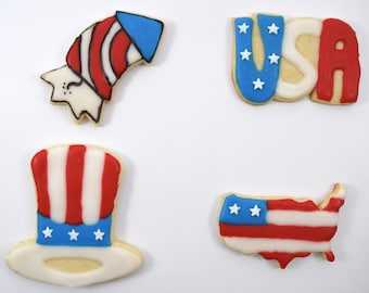 4th of July #1 Cookie Cutter Set