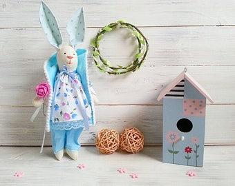 Tilda-Puppe, Stoffpuppe, Stoffpuppe, Osterhase, Bunny Puppe Geschenk, Stoffpuppe, Stoff Hase, weiche Kaninchen, Kinderzimmer Dekor, Textile Wohnkultur