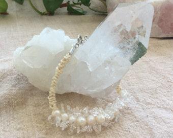Pearl and Crystal Quartz Bracelet