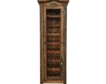 Rustic Reclaimed Solid Wood Wine Rack