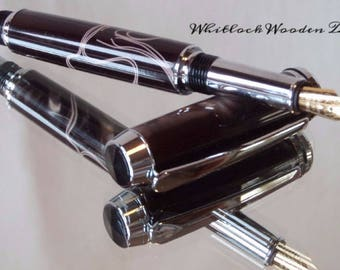 Chocolate With Cream Ribbon Fountain Pen