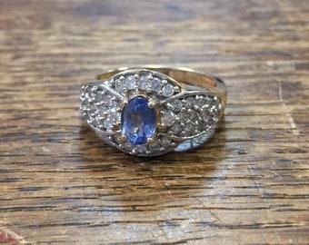 Tanzanite & Diamond 14k Yellow Gold Ring